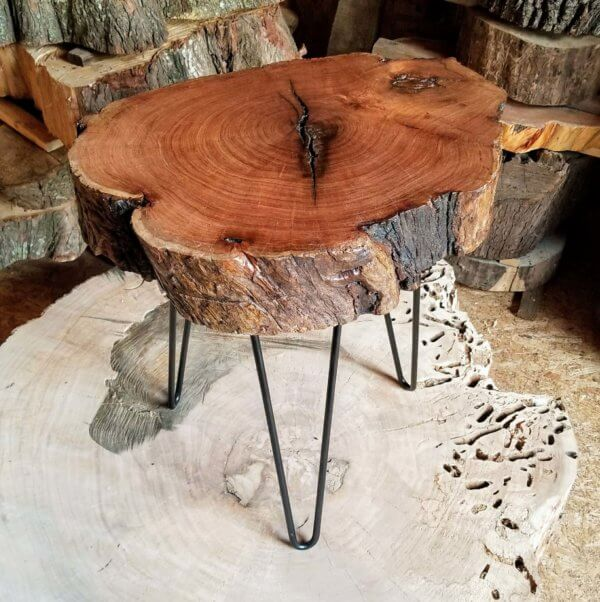 Mulberry Cross Section End Table Custom Furniture