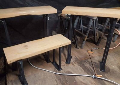 Cedar Tables and Plant Stand