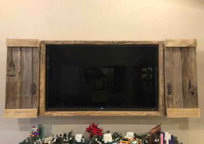 Reclaimed Barn wood TV Cabinet