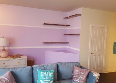 Staggered Live Edge Floating Shelves