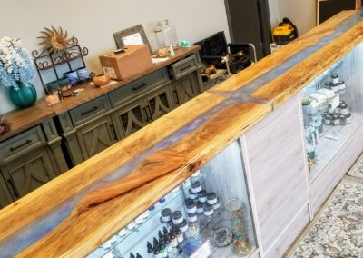 River and Waterfall Countertop